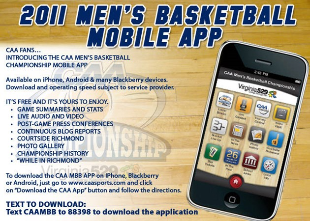 Follow Men's Hoops at the CAA Tournament on the CAA's App