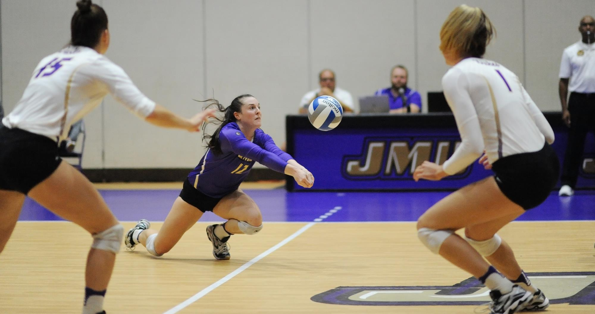 Women's Volleyball: James Madison Upsets Conference Leader Northeastern In Four Sets