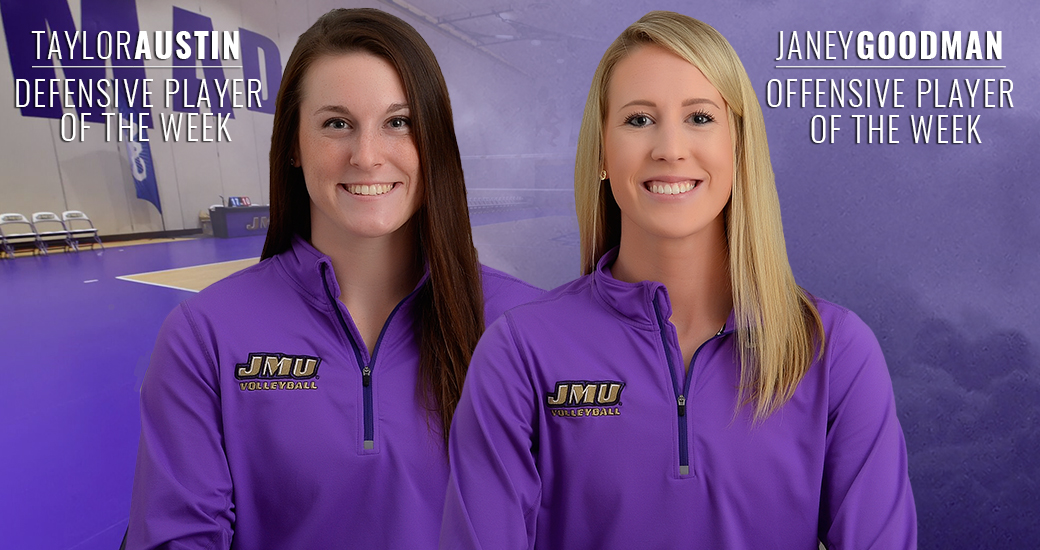 Women's Volleyball: Goodman, Austin Tabbed With CAA Weekly Honors