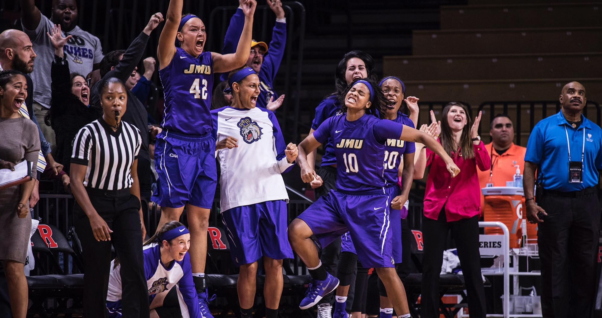 Women's Basketball: Hall's Record 46 Points Powers JMU to 82-76 Double OT Win at Rutgers