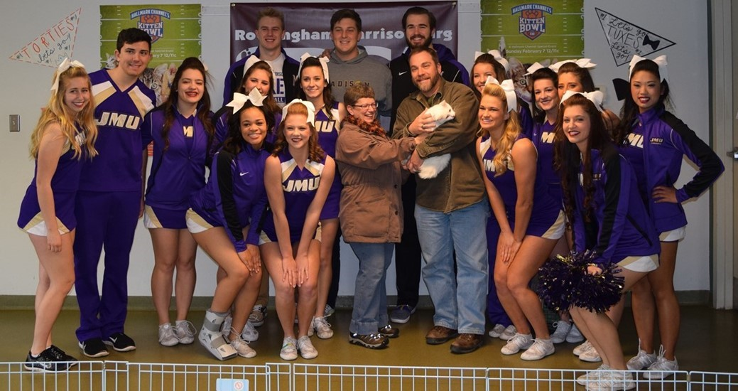 Football, Community Relations: JMU Student-Athletes Help at SPCA's Kitten Bowl