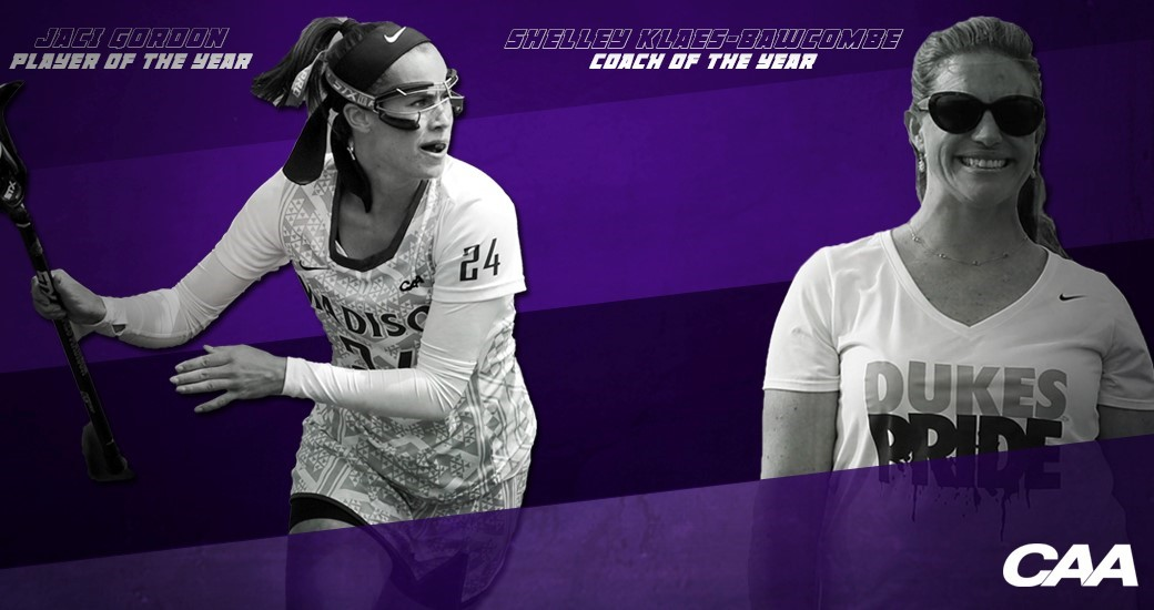Women's Lacrosse: Gordon, Klaes-Bawcombe Voted CAA Player and Coach of the Year