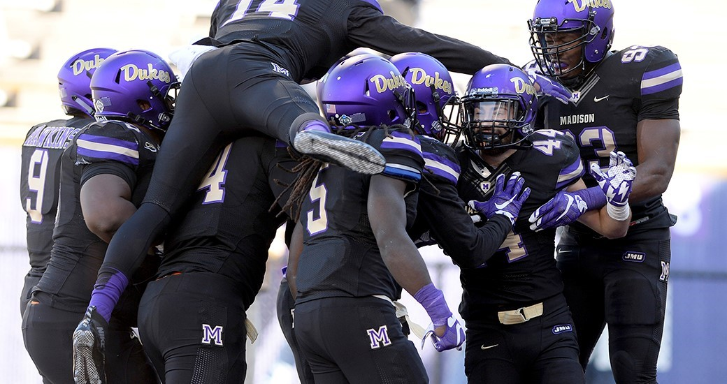 Football: JMU Picked to Finish Third in CAA, Five Dukes Voted Preseason All-CAA