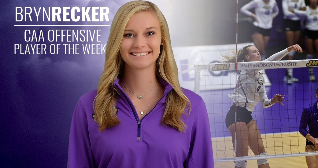 Women's Volleyball: Recker Tabbed CAA Offensive Player of the Week