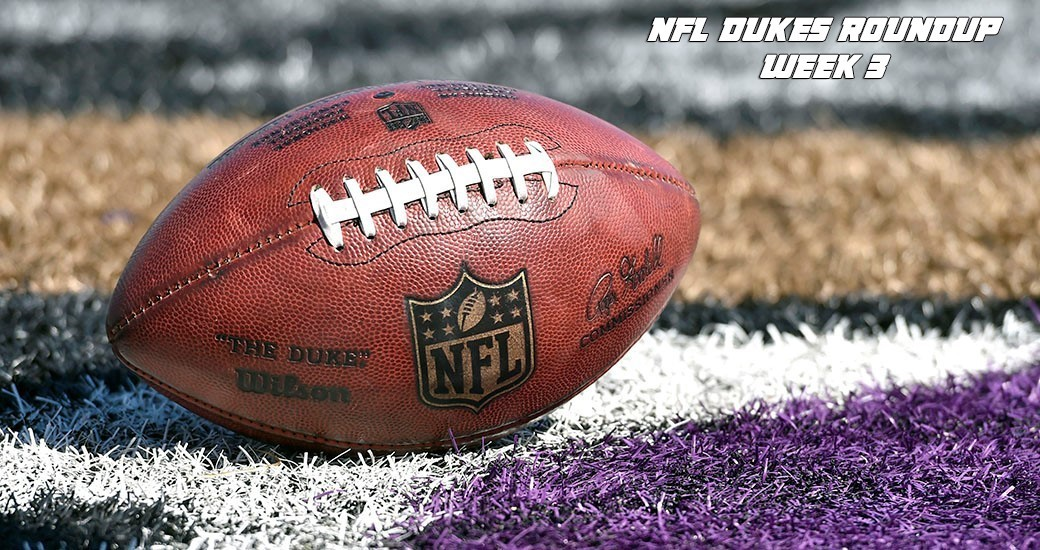 Football: NFL Dukes Roundup - Week 3