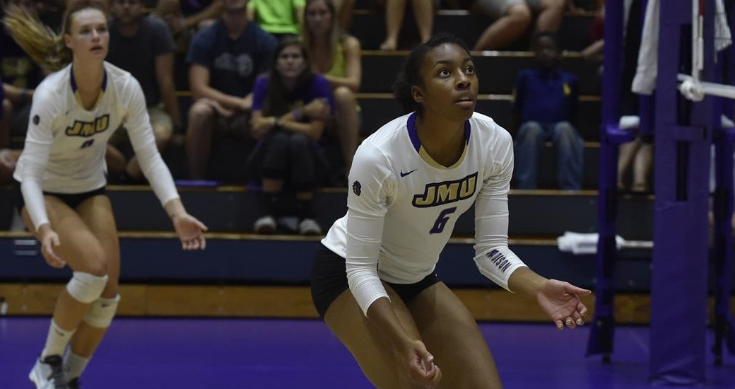 Women's Volleyball: Dukes Suffer First CAA Loss, Fall At Hofstra