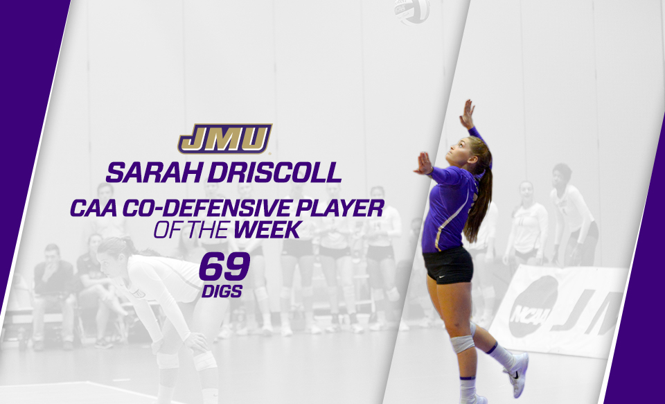 Women's Volleyball: Driscoll Earns CAA Co-Defensive Player of the Week Honors)