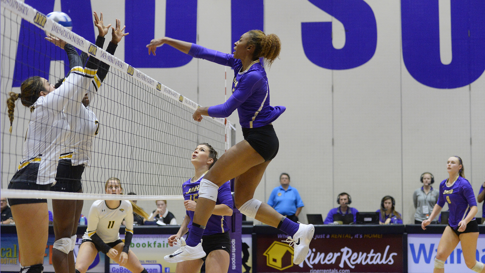 Women's Volleyball: Dukes Advance to CAA Championship Match with Sweep over Towson)