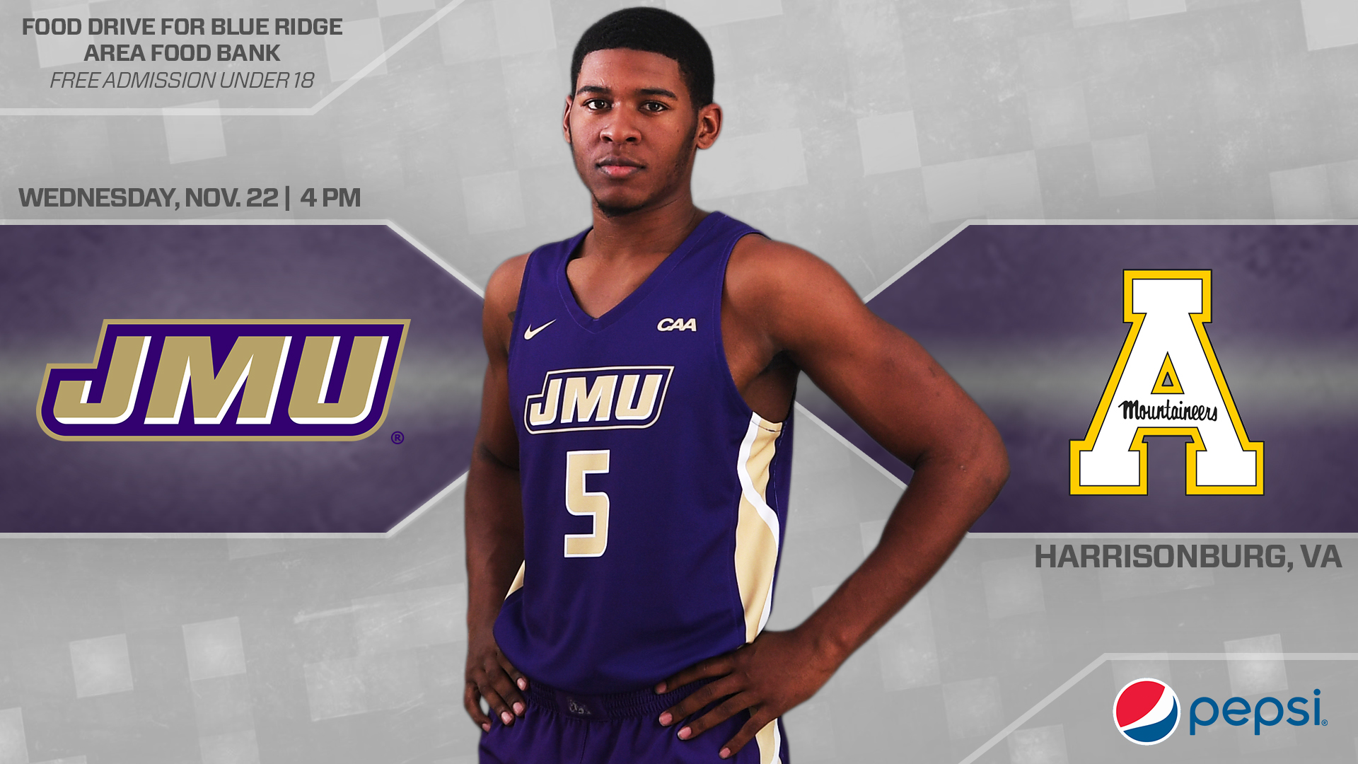 Men's Basketball: Dukes Welcome App State For Midweek Tilt)