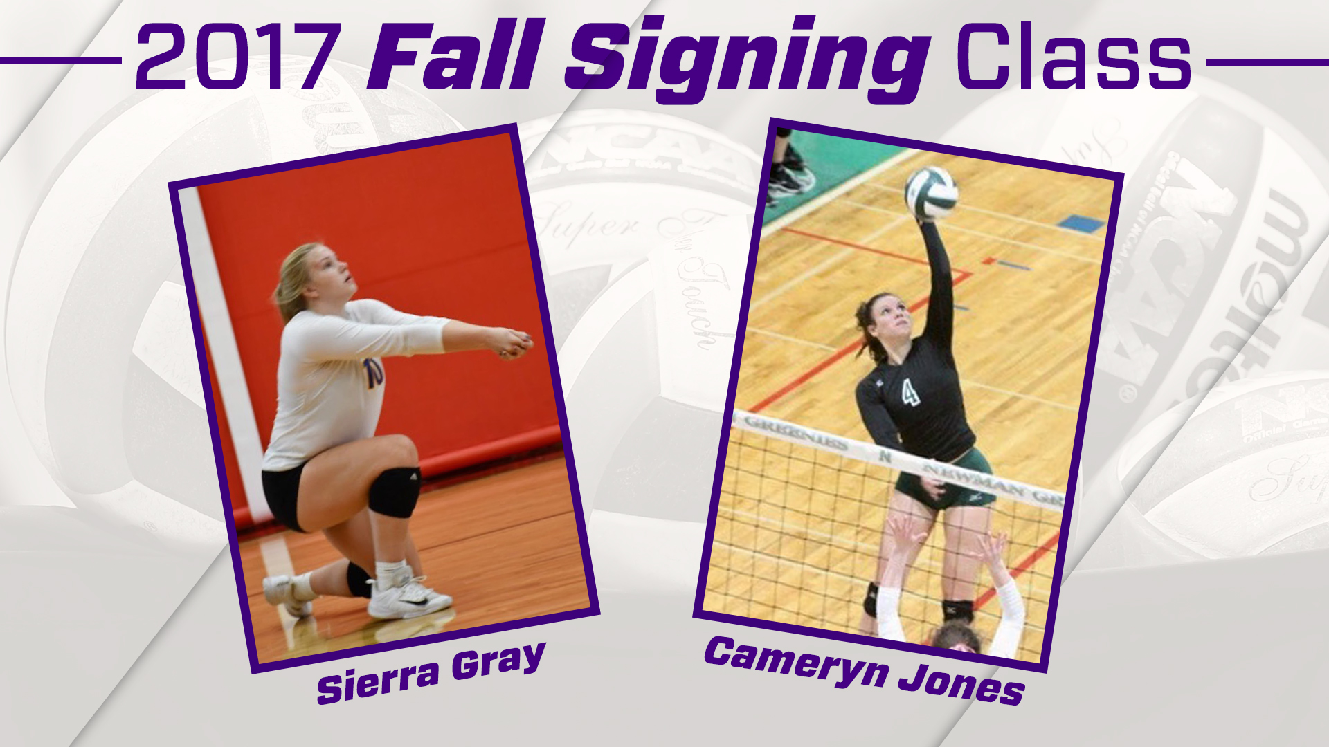 Women's Volleyball: Volleyball Signs Two to National Letters of Intent for 2018)