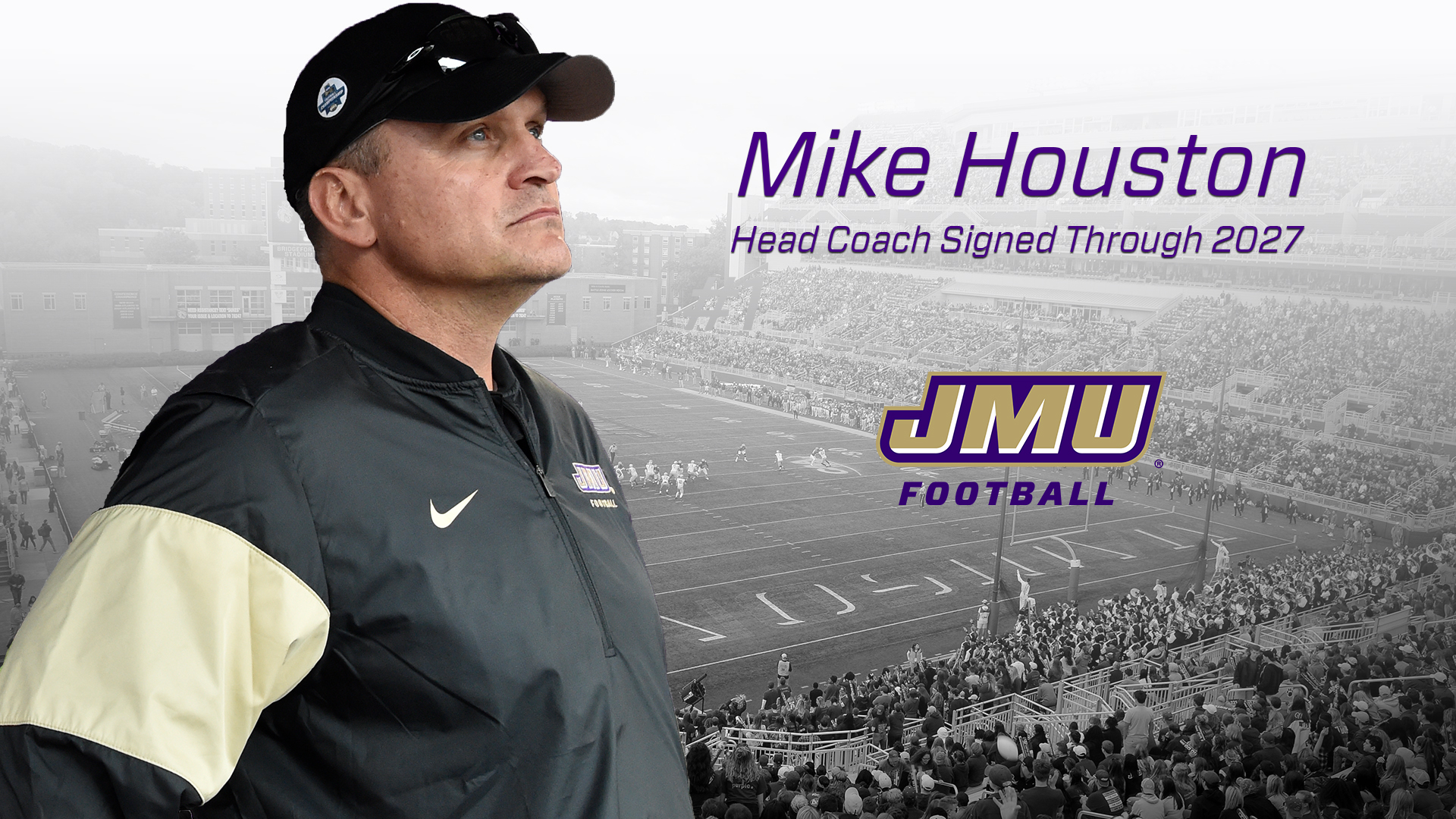 Football, Administration: Mike Houston Signs 10-Year Extension as Head Coach of James Madison Football)
