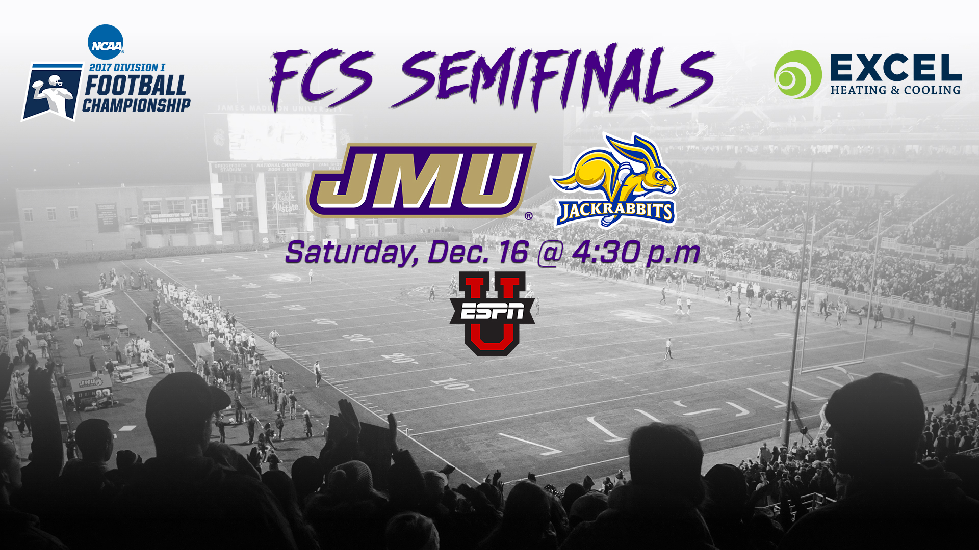 Football: Top-Seeded JMU to Face No. 5 South Dakota State at Home in National Semis)