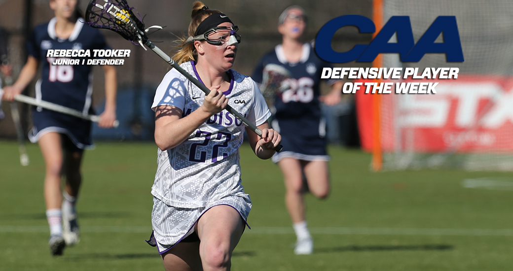 Women's Lacrosse: Tooker Named CAA Defensive Player of the Week)