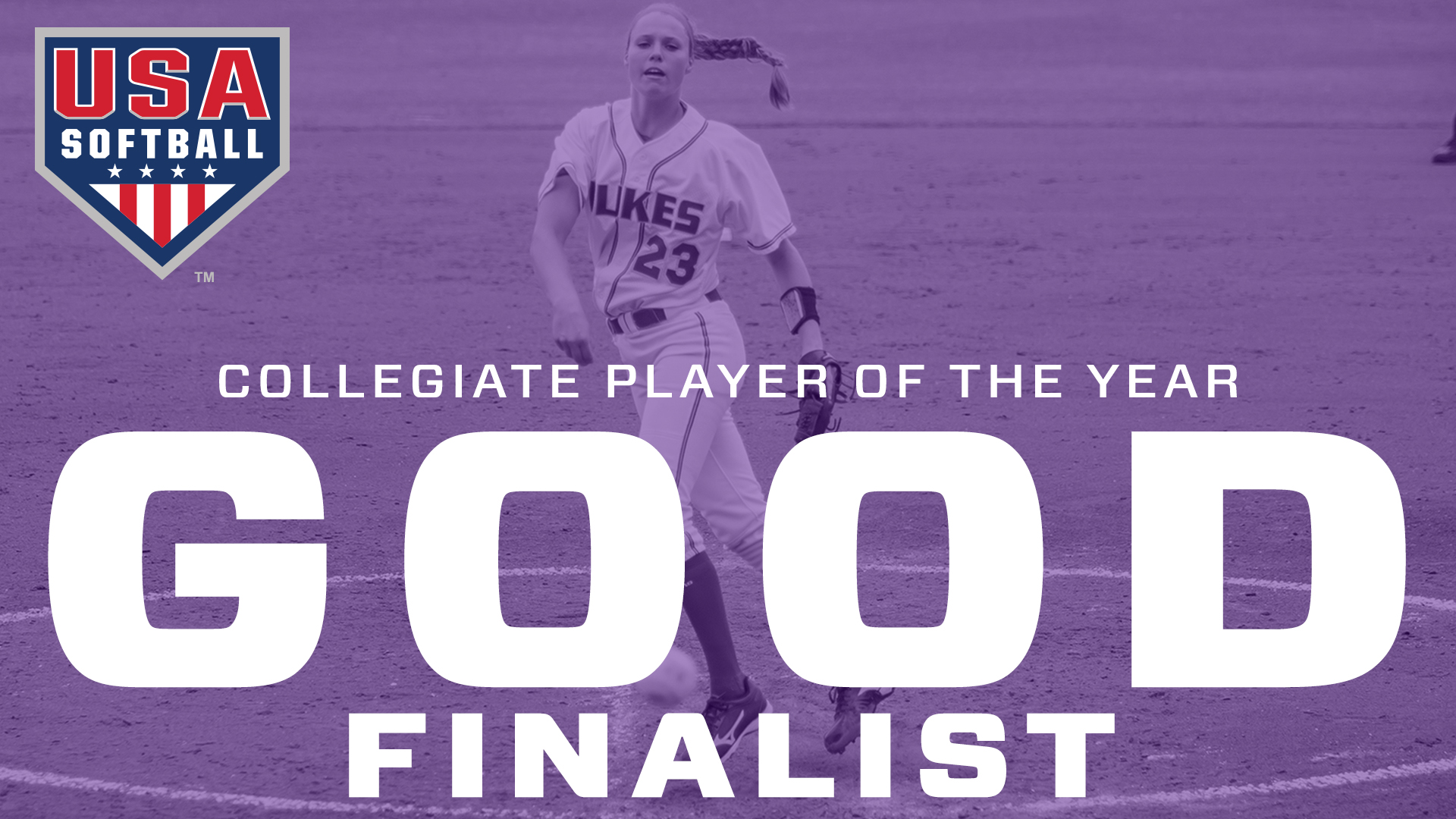 Softball: Good Named Top Three Finalist for USA Softball Collegiate Player of the Year)