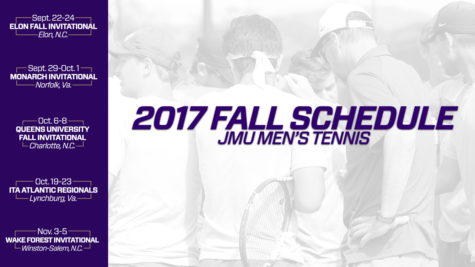 Men's Tennis: Dukes to Tackle Five-Tournament Slate in Fall 2017)