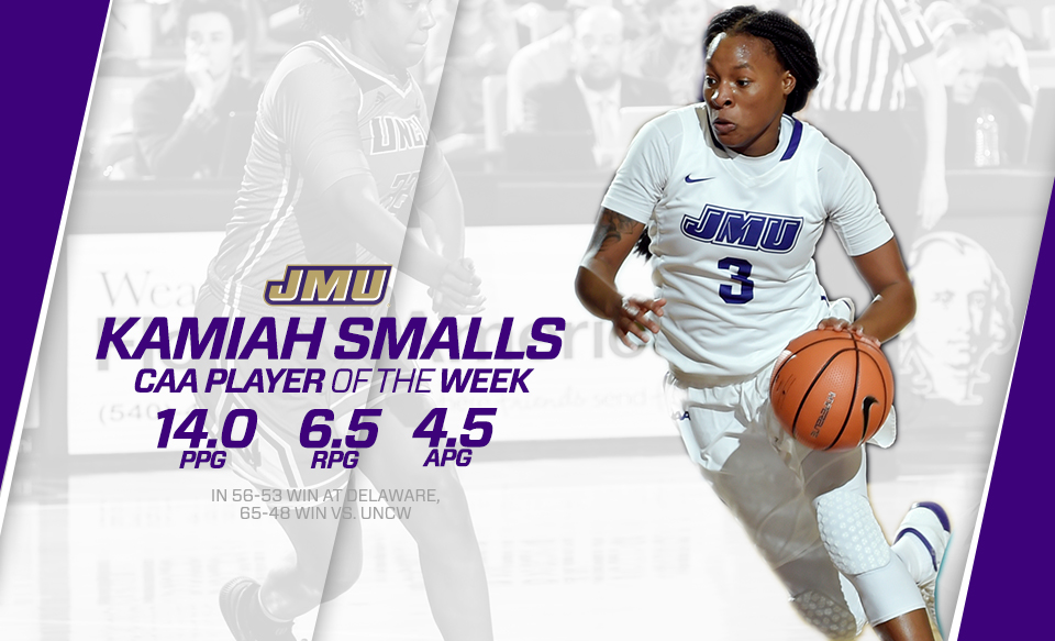 Women's Basketball: Smalls Earns CAA Player of the Week Accolade)