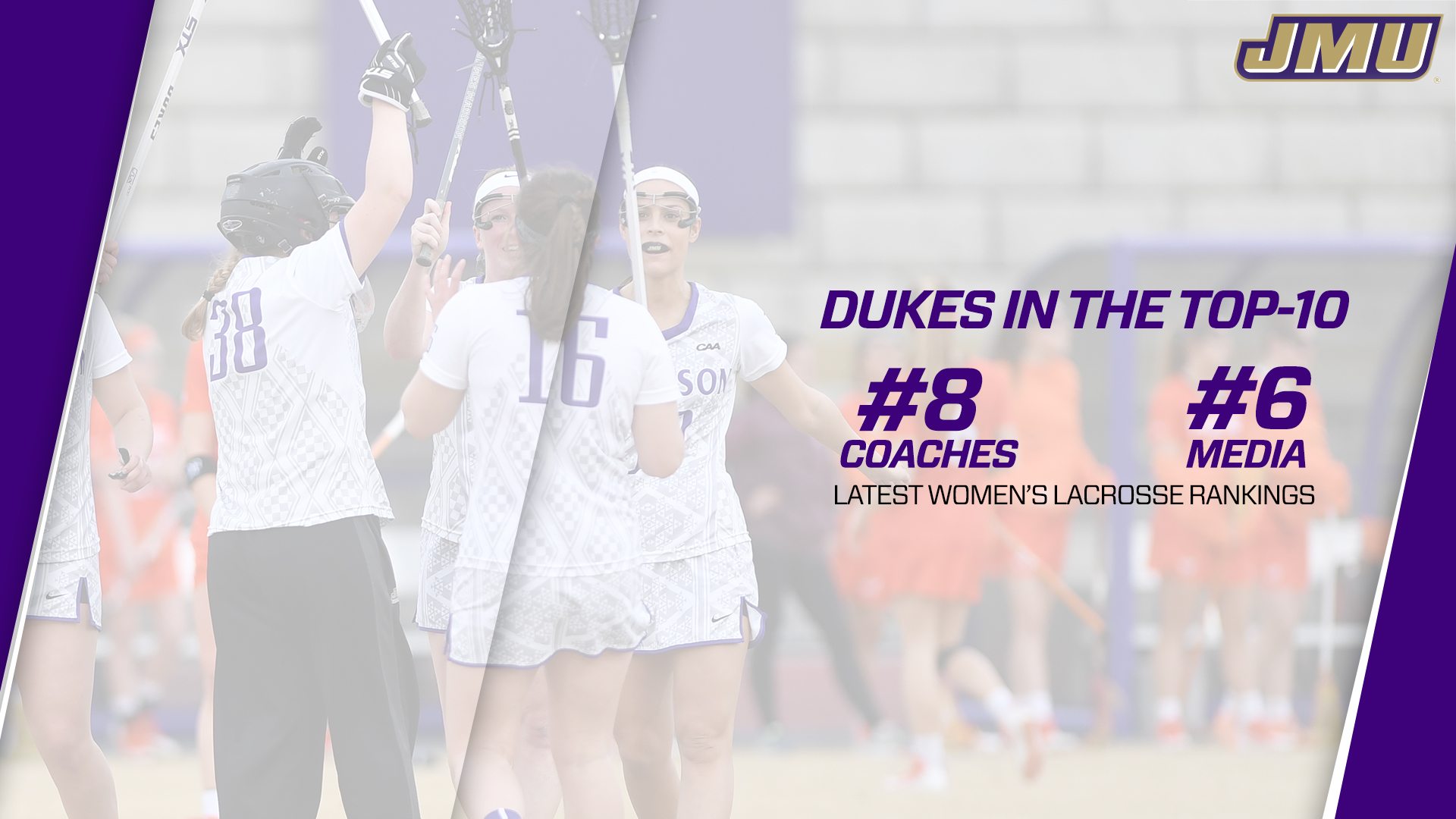 Women's Lacrosse: Dukes Move Up Into Top 10 in Both Major Lacrosse Polls)