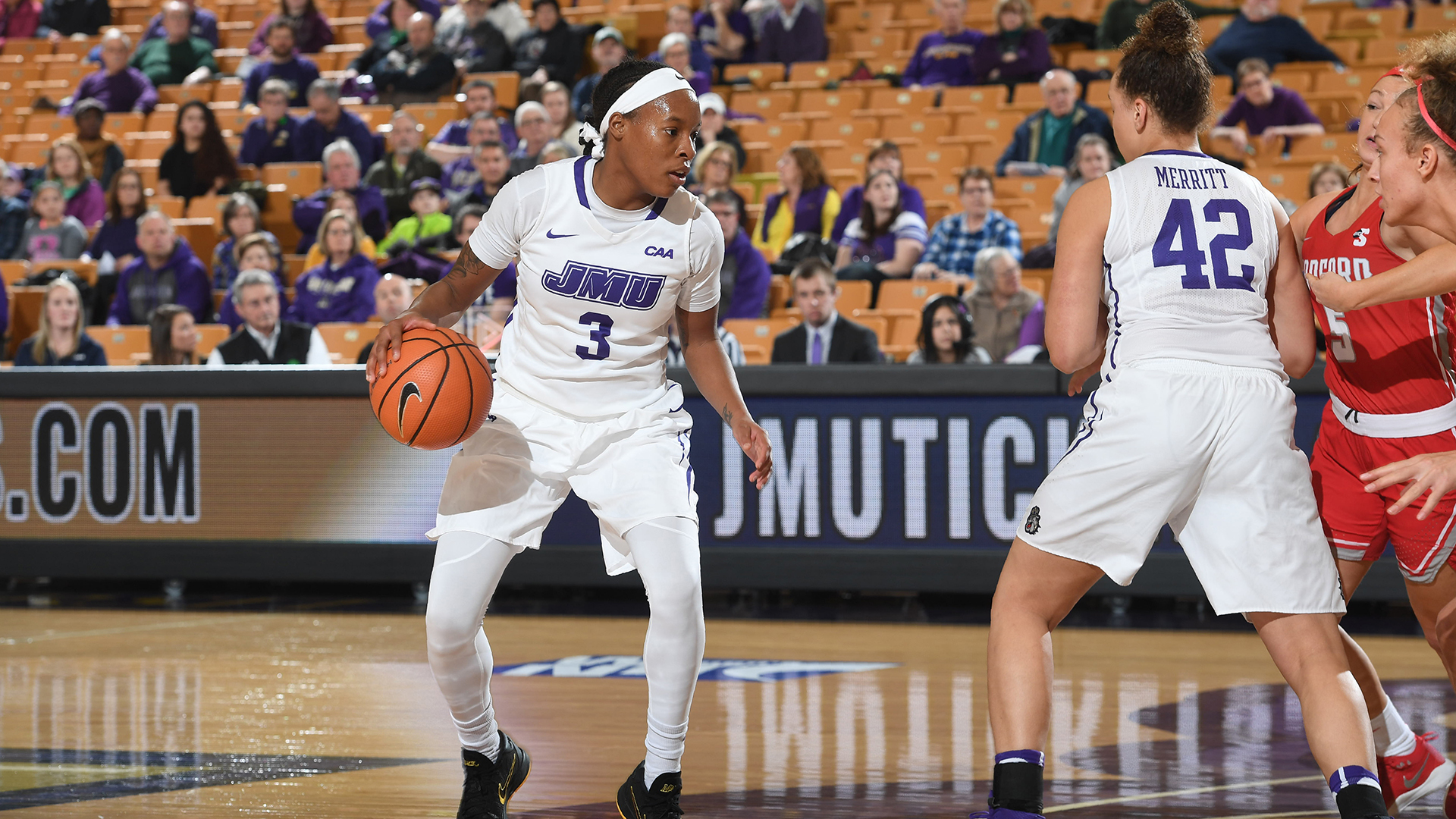 Women's Basketball: James Madison Routs Radford 62-35 in WNIT Second Round)