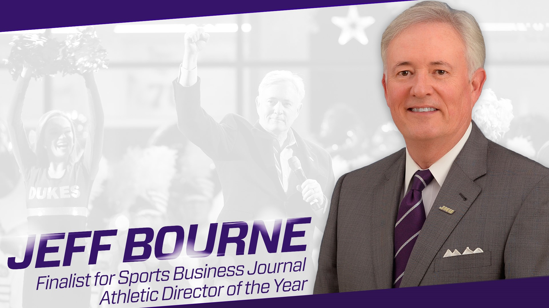 Administration: JMU's Bourne One of Five Finalists for Sports Business Journal AD of the Year)