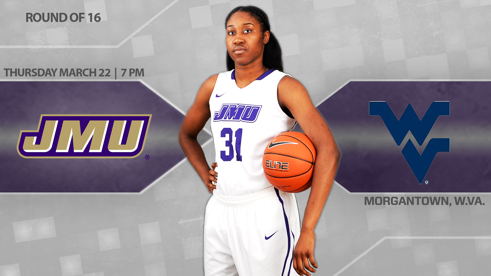 Women's Basketball: Dukes Travel to Morgantown for a WNIT Third-Round Matchup)
