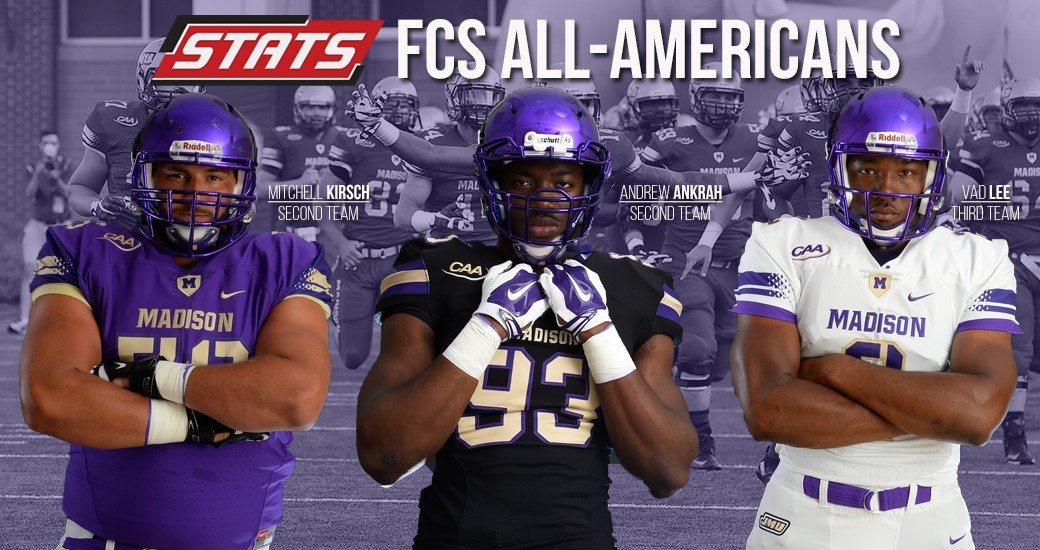 buy online 84077 d3d60 Kirsch, Ankrah and Lee Earn STATS FCS All-America Accolades ...