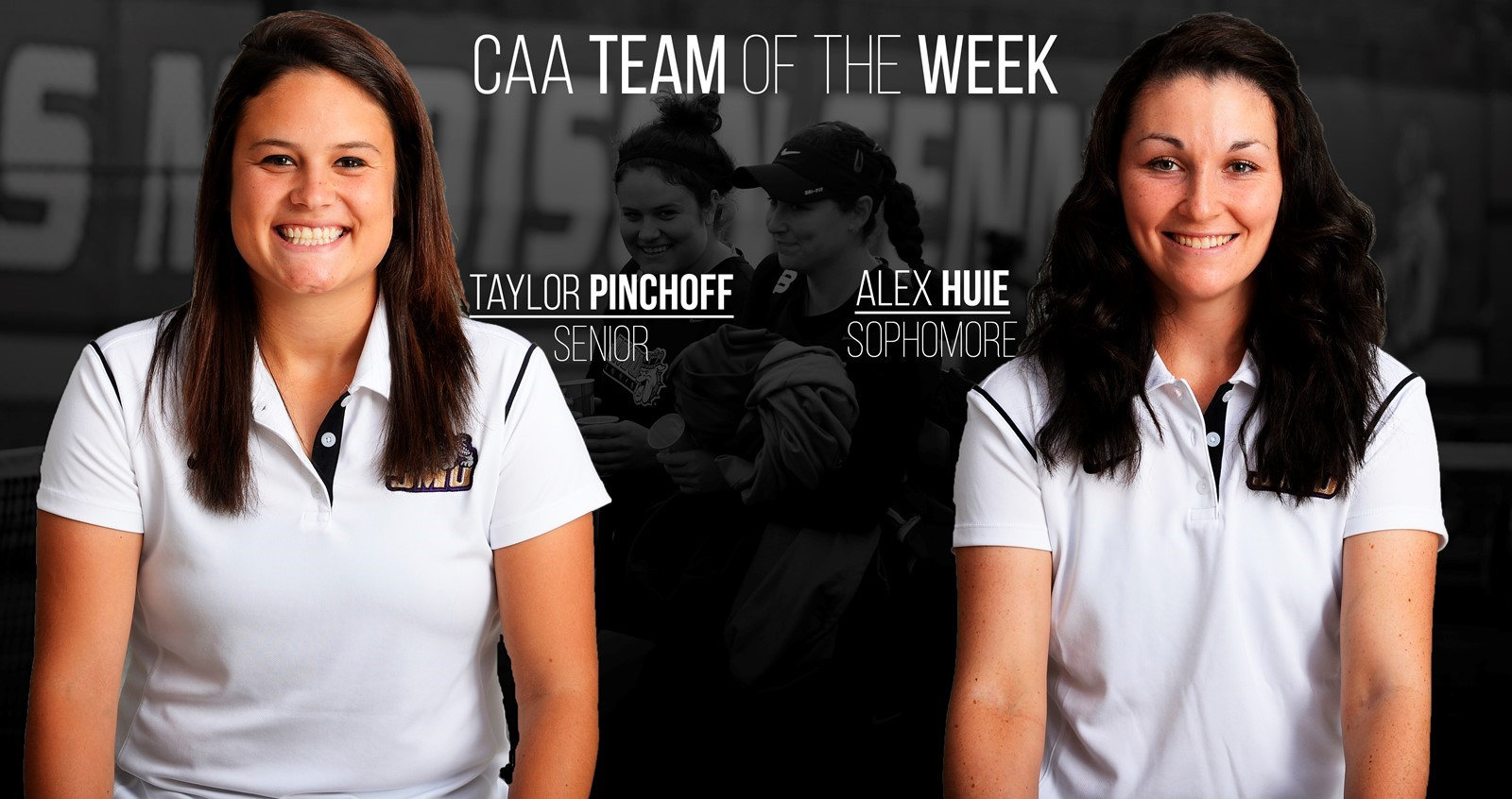 Pinchoff, Huie Named CAA Doubles Team of the Week - James