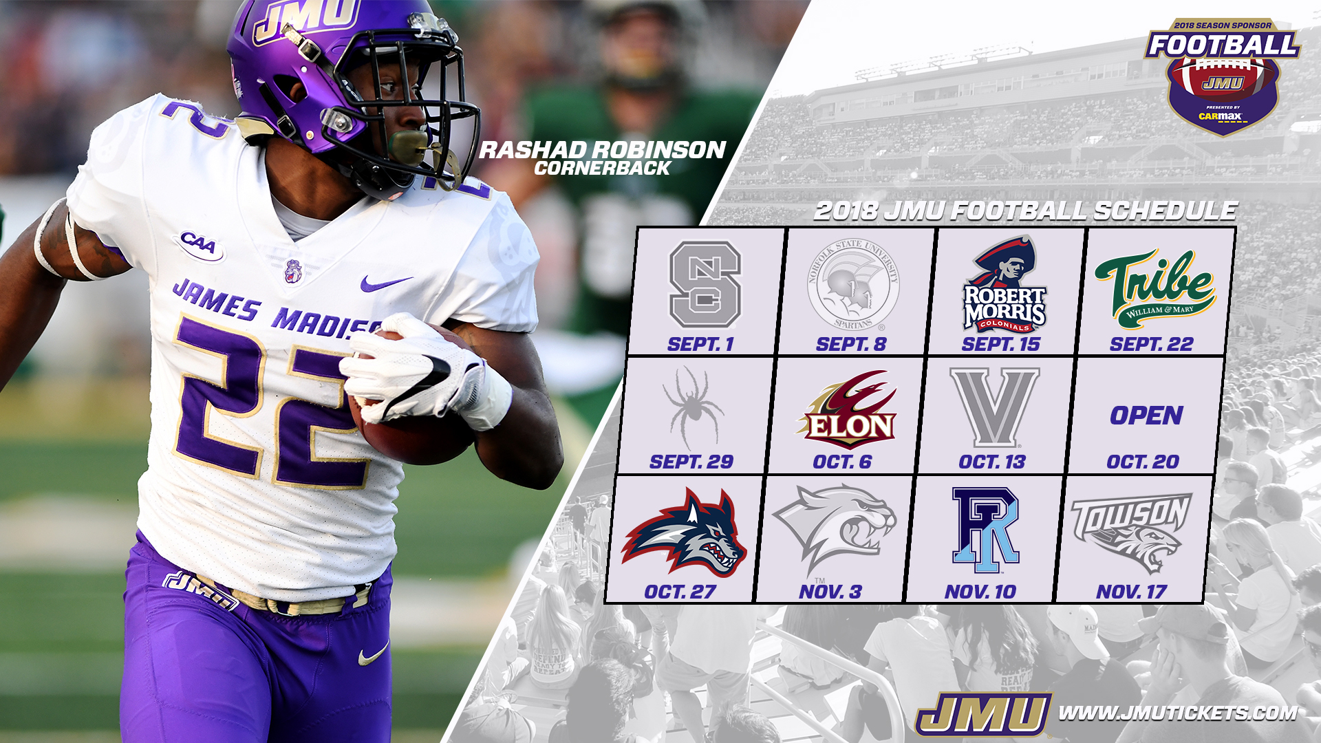 2018 JMU Football Schedule