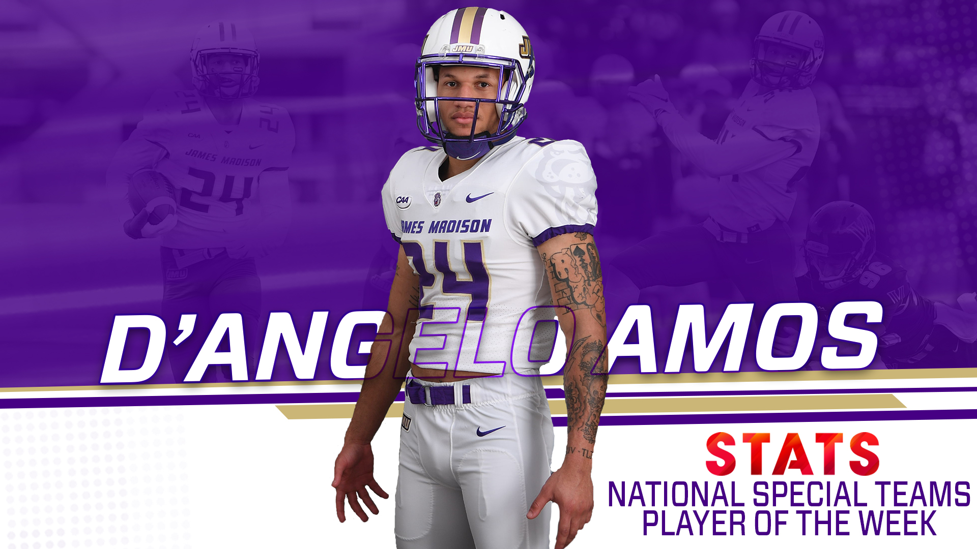 Football: D'Angelo Amos Named STATS FCS National Special Teams Player of the Week