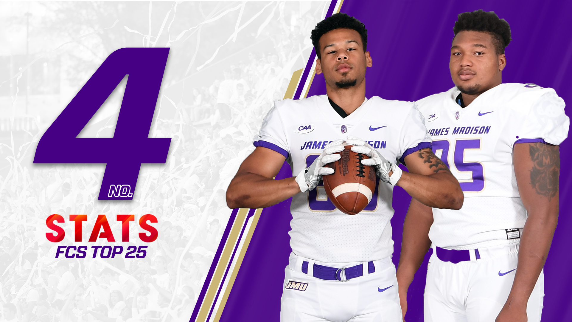 Football: Dukes Back in Top Five of Both Major Polls Following Big Road Win