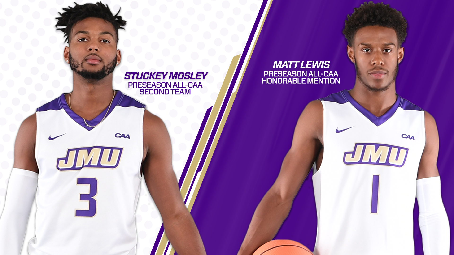 Men's Basketball: Mosley, Lewis Named Preseason All-CAA; Dukes Picked Sixth