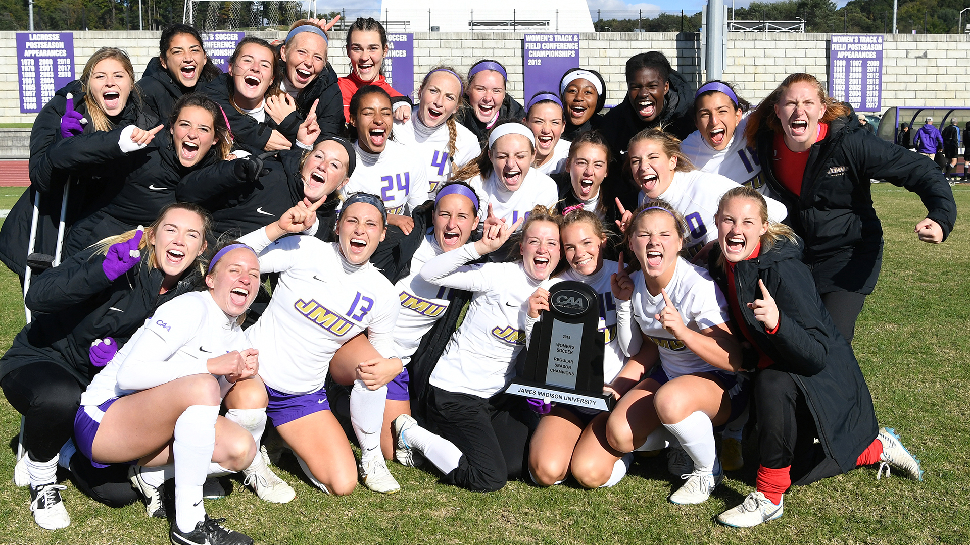 Women's Soccer: Dukes Capture CAA Regular Season Title With Senior Day Draw