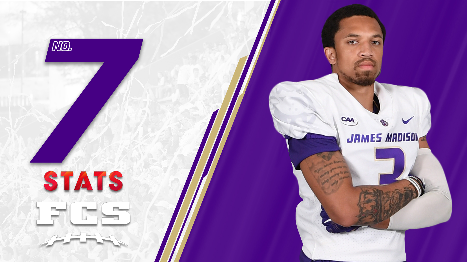 Football: Dukes Rise to Seventh in STATS FCS Top 25