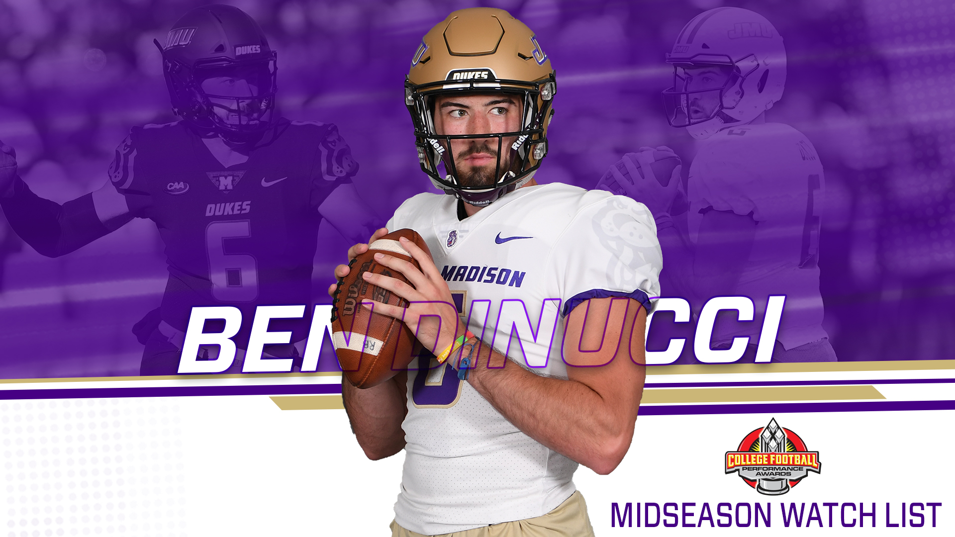 Football: DiNucci Tabbed to CFPA Midseason National Player of the Year Watch List