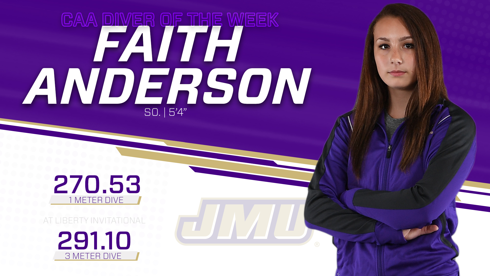 Swimming & Diving: Anderson Earns CAA Diver of the Week