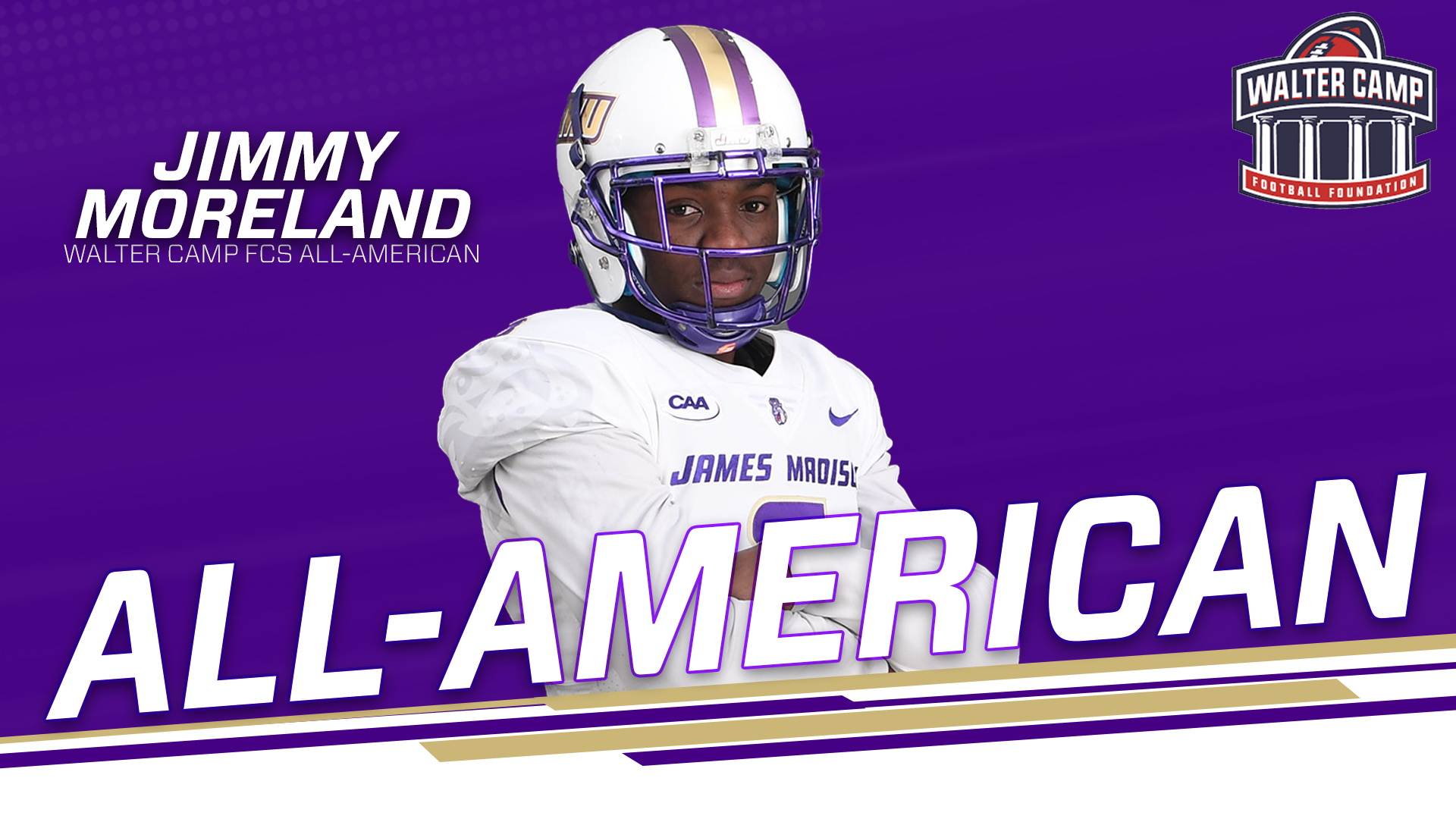Football: Moreland Selected to Walter Camp FCS All-America Team