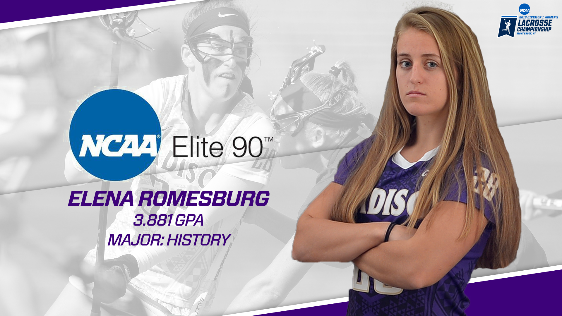 Women's Lacrosse: Romesburg Wins NCAA Elite 90 Award at Championship Banquet