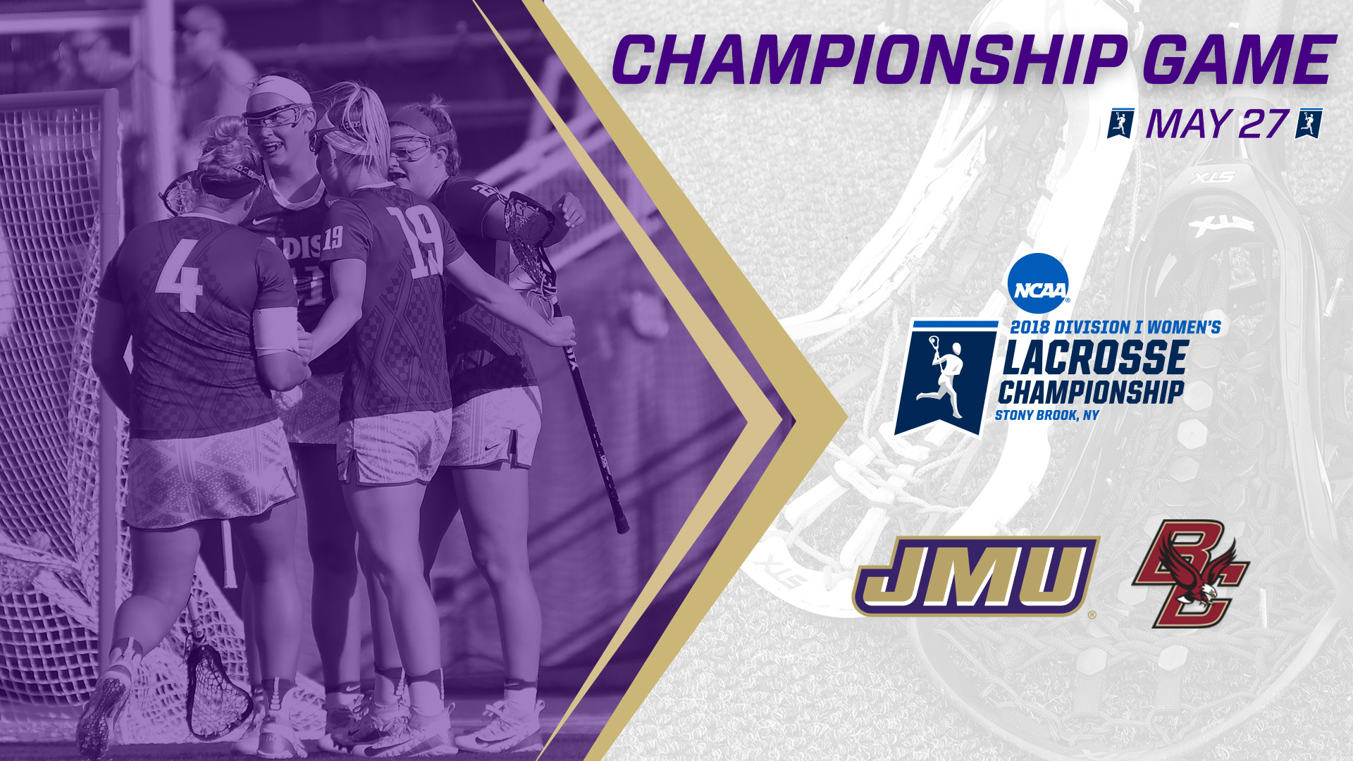 Women's Lacrosse: JMU to Face Off with Boston College in National Championship Game