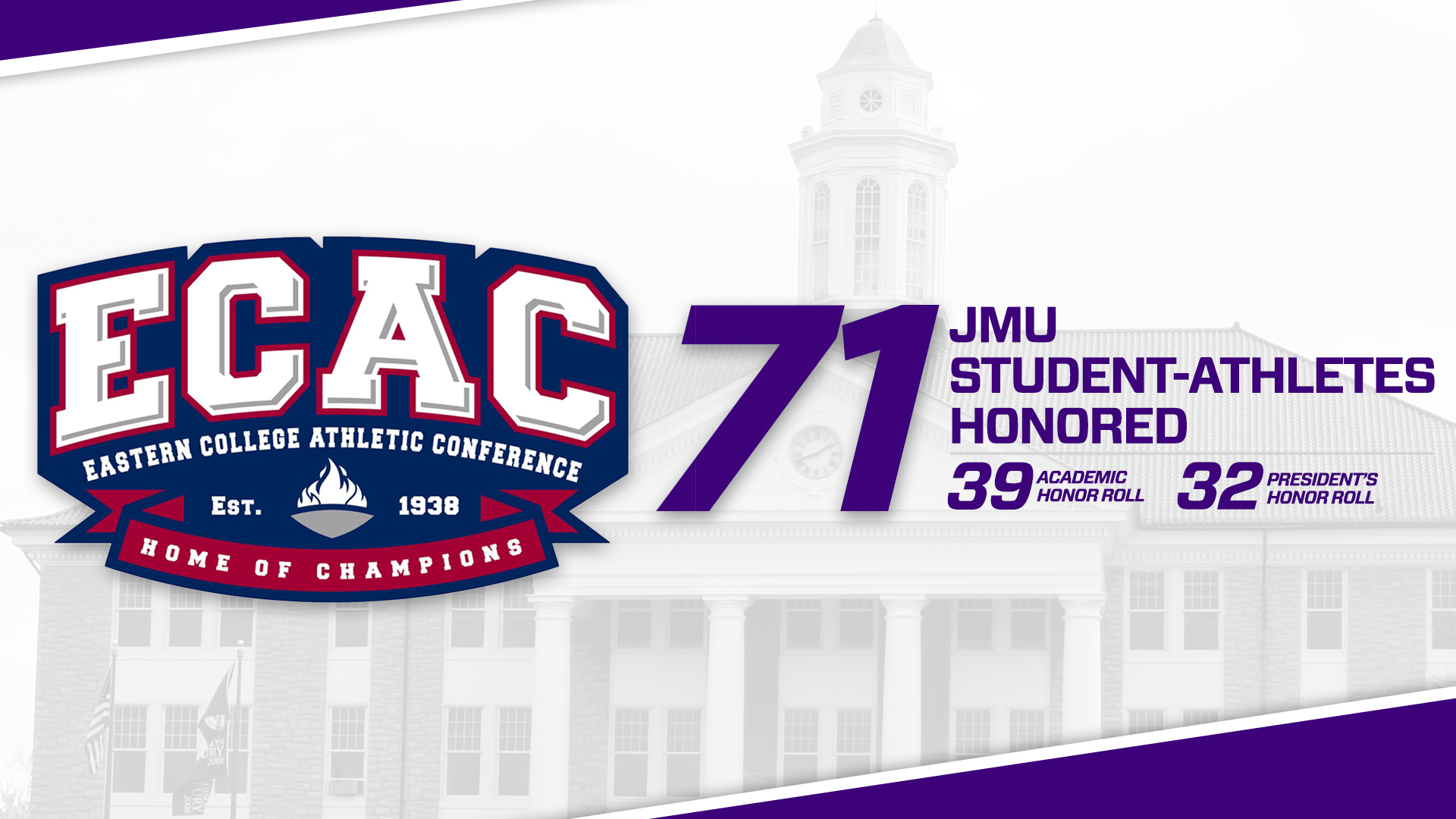 Baseball, Men's Basketball, Softball, Women's Basketball, Women's Lacrosse, Women's Swimming and Diving, Track & Field, Student-Athlete Services: 71 Student-Athletes Received ECAC Spring Academic Accolades