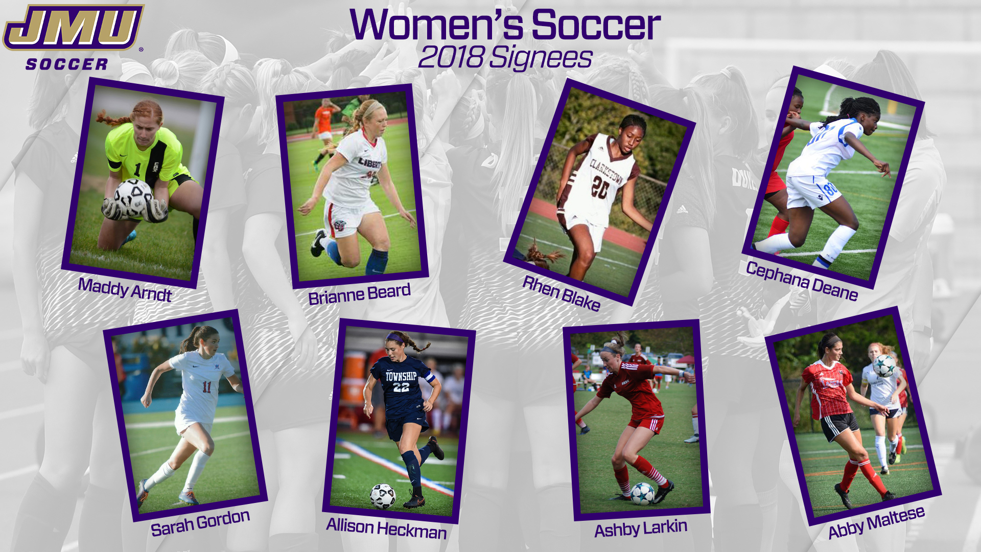 Women's Soccer: Women's Soccer Adds Eight for 2018