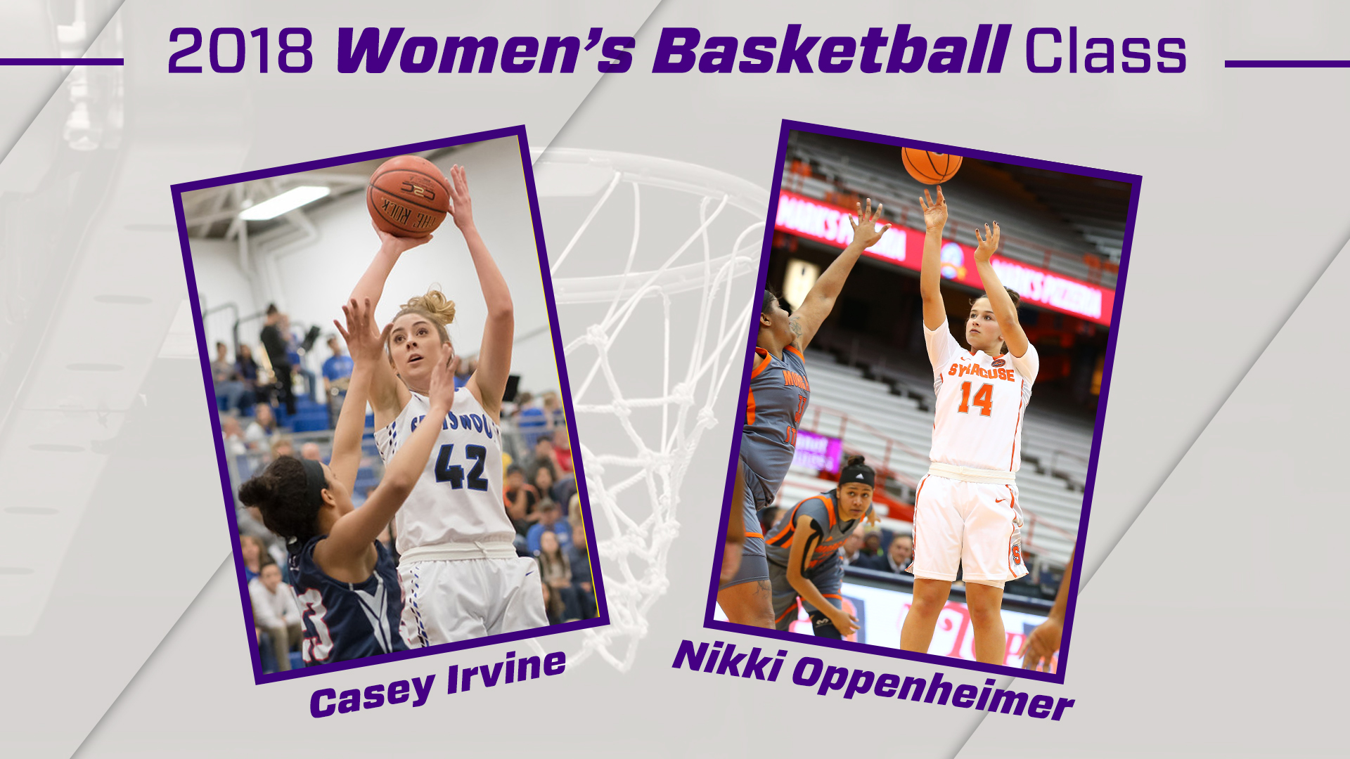 Women's Basketball: Women's Basketball Adds Irvine & Oppenheimer