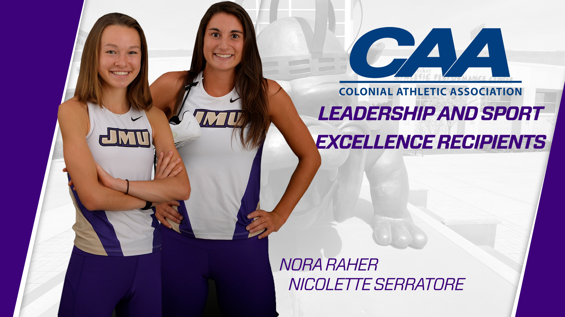 Women's Cross Country, Track & Field: Raher & Serratore Receive CAA Leadership and Sport Excellence Awards