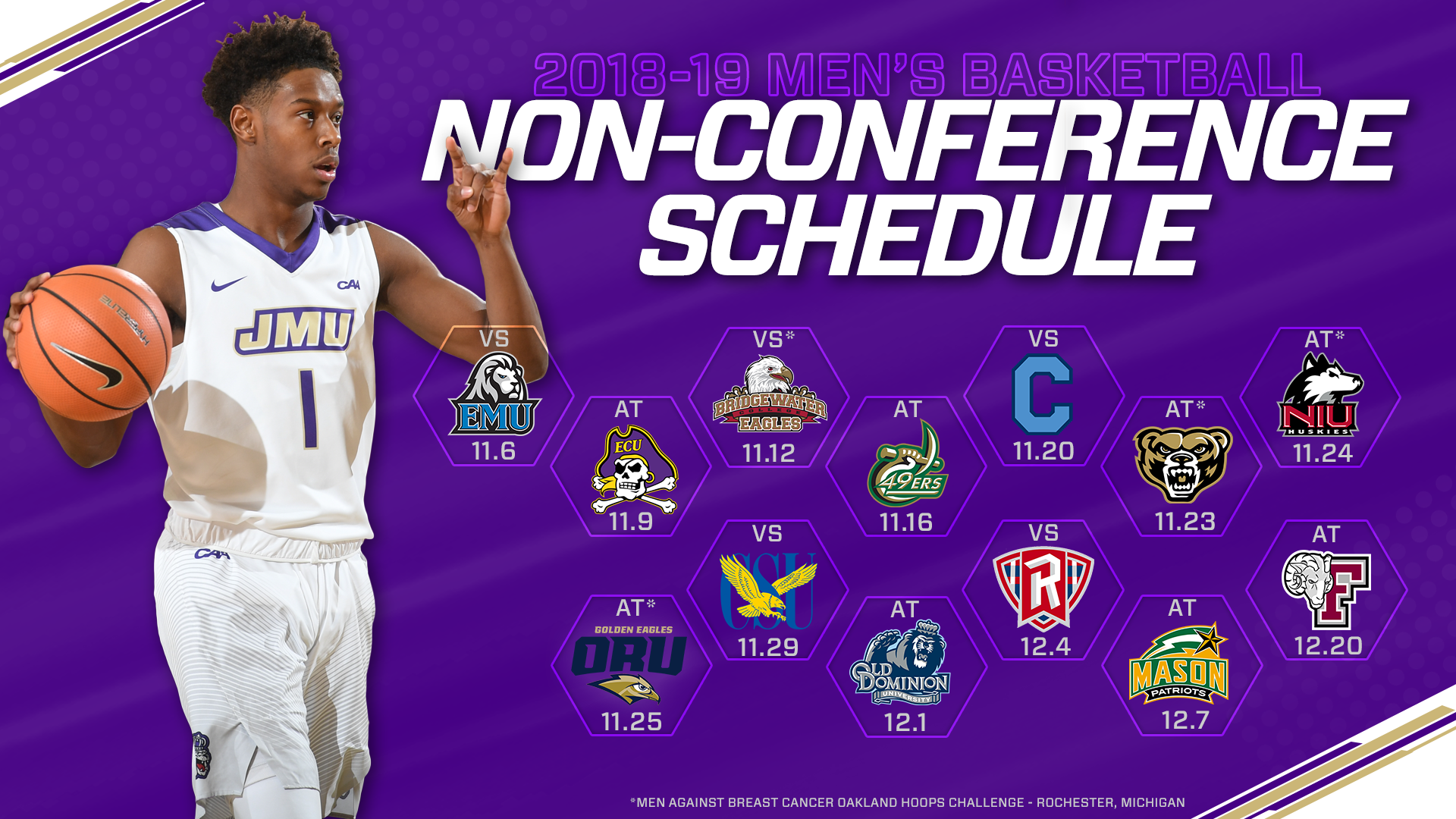 the latest 914f9 bbb60 Men's Basketball Sets 2018-19 Non-Conference Schedule ...