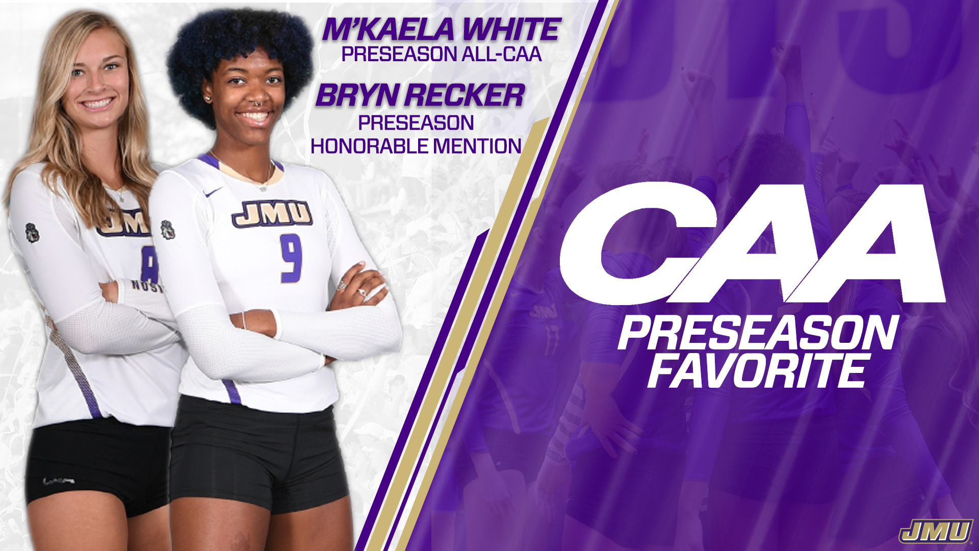 Women's Volleyball: Volleyball Predicted to Finish First, White Tabbed All-CAA
