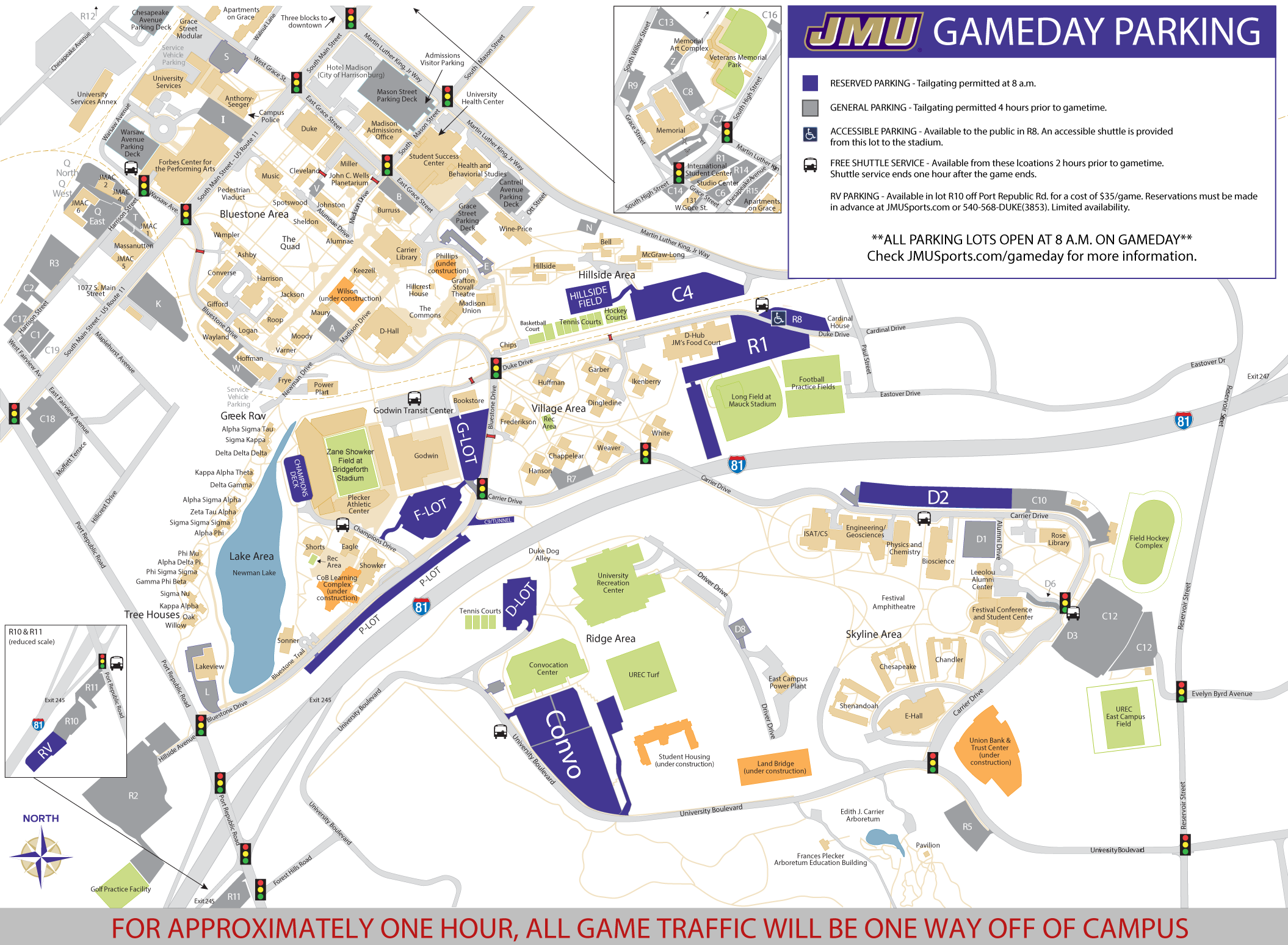 Jmu Parking Map JMU to Host Annual Meet the Dukes Day on August 18   James Madison