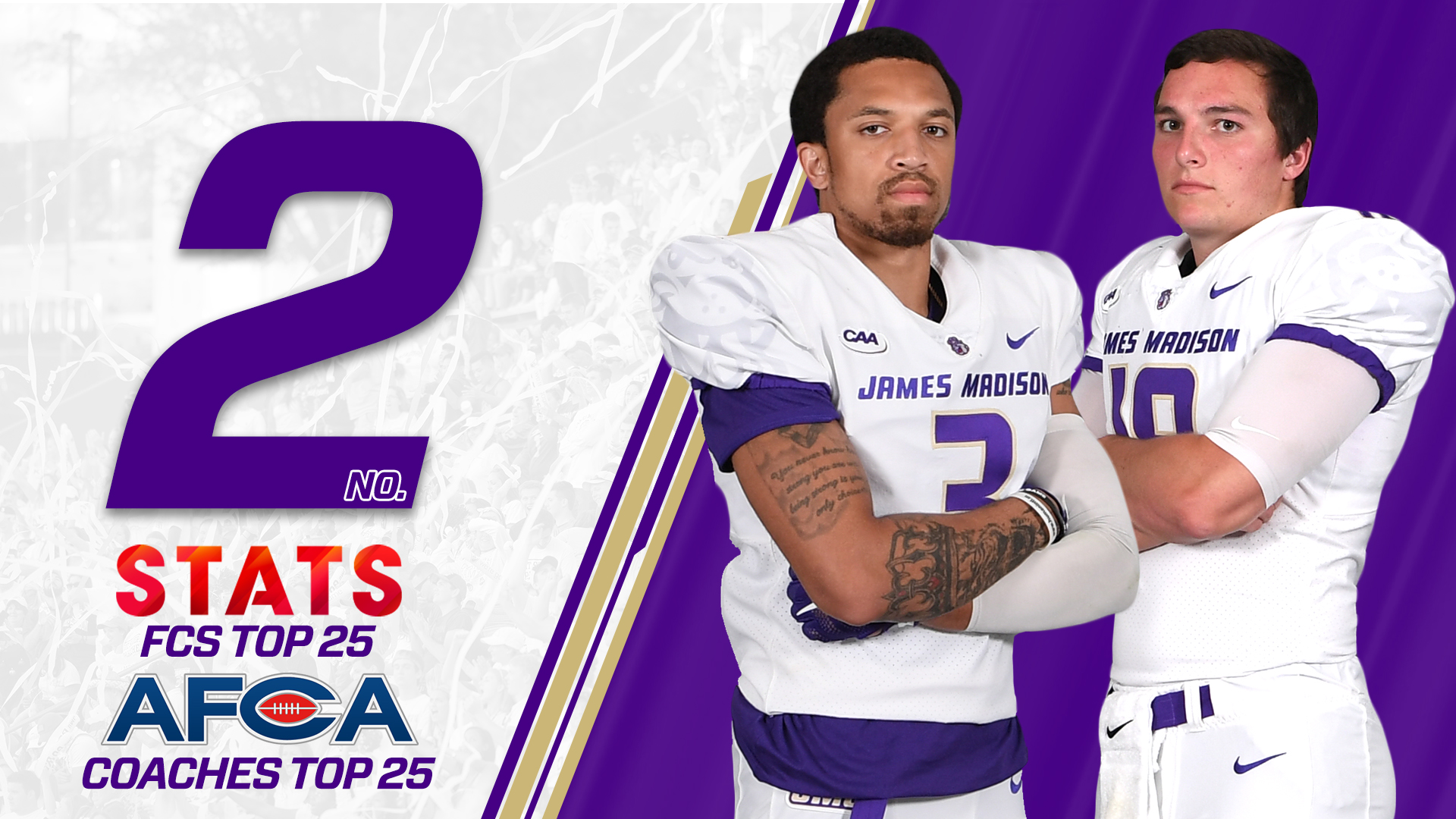 Football: Dukes Hold Strong at No. 2 Nationally Entering Conference Play