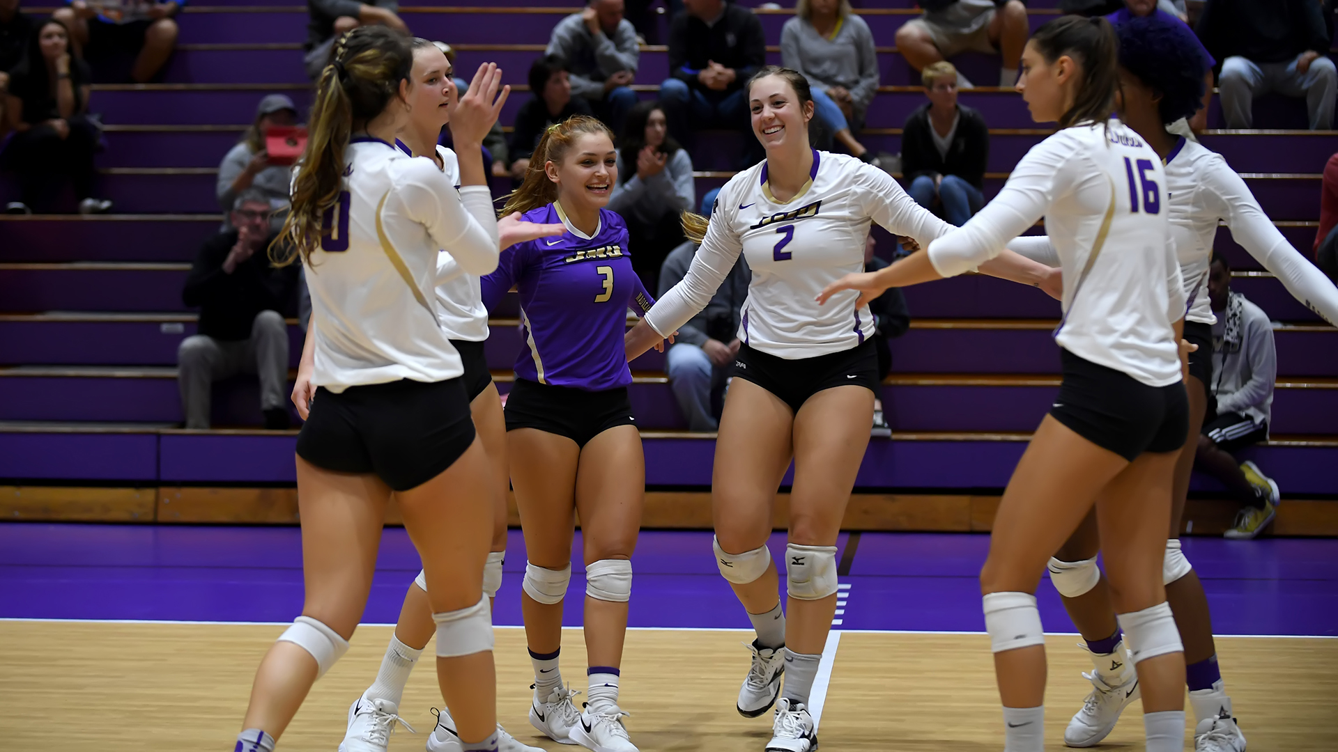 Women's Volleyball: Dukes Earn Sweep over Delaware