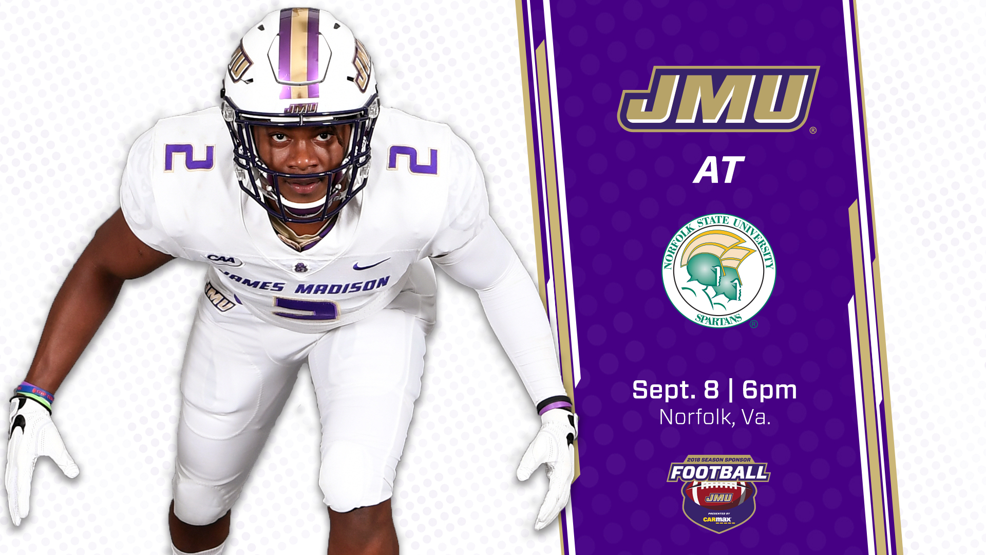 new concept 8f484 9f72a No. 2 JMU Travels Across the State Saturday to Face Norfolk ...