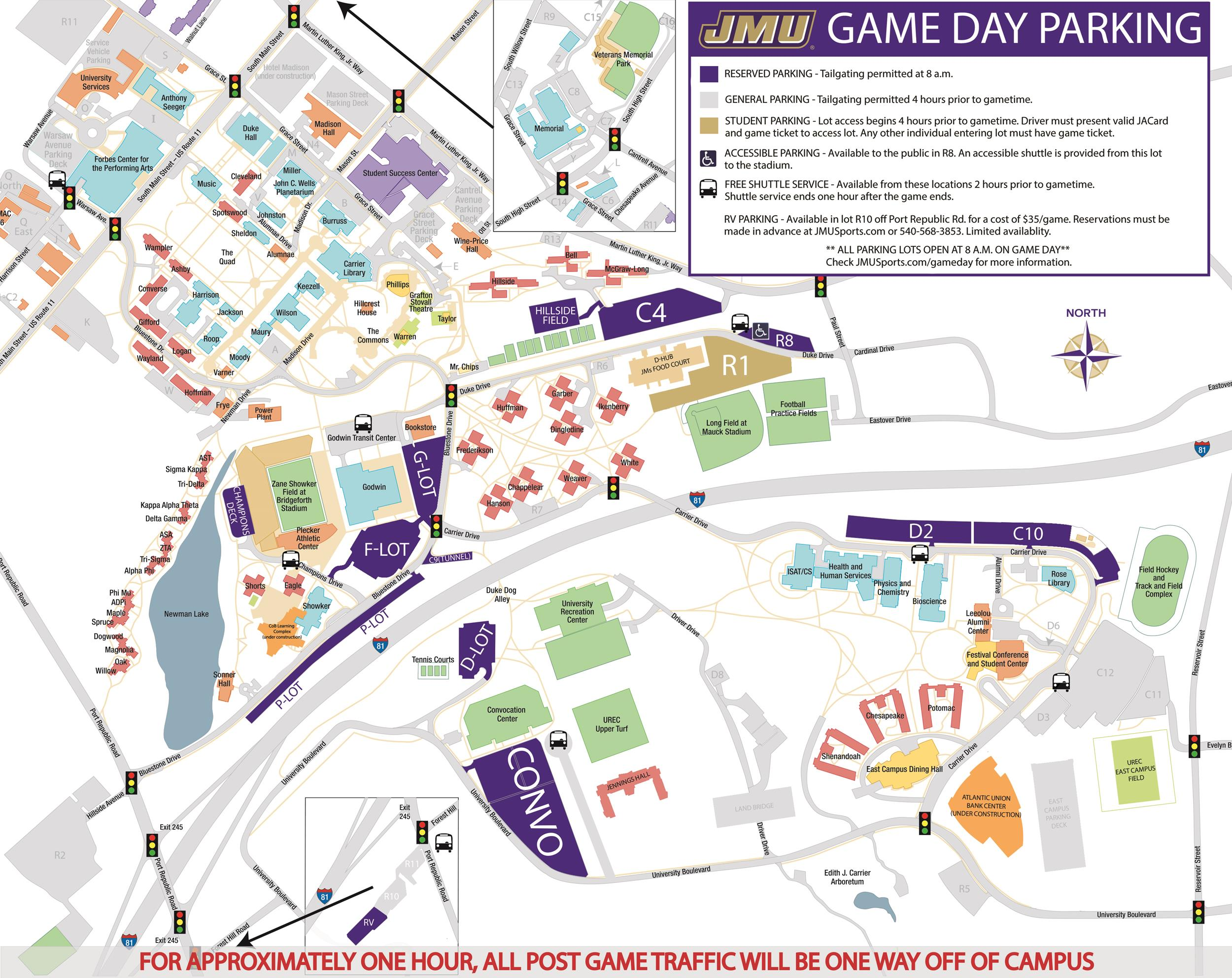 Jmu Parking Map Football Game Day Parking Updates   James Madison University Athletics