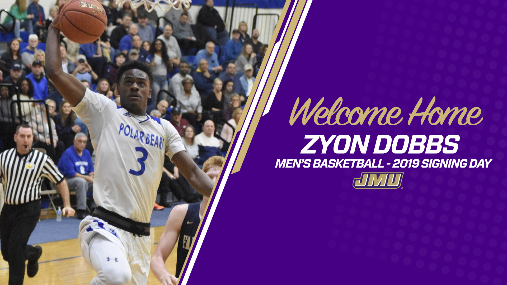 size 40 6c691 f16b2 Zyon Dobbs Joins Men's Basketball for 2019-20 - James ...